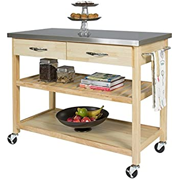 Amazon.Com - Best Choice Products Natural Wood Mobile Kitchen