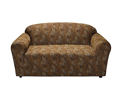 Madison Stretch Jersey Loveseat Slipcover, Geometric, Leopard