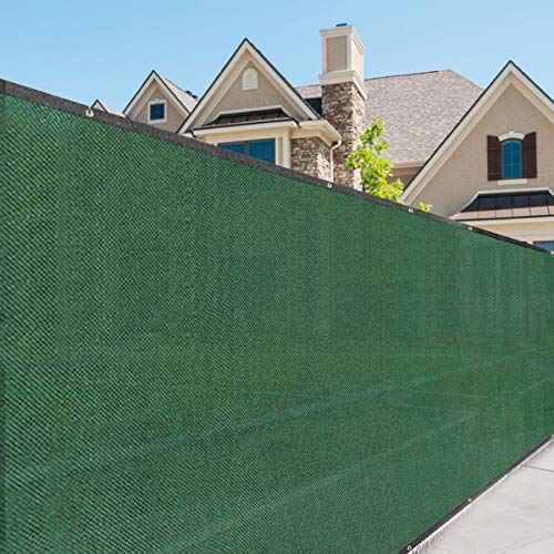 Tangkula 6'x50' Privacy Fence Screen Outdoor Windscreen UV-Resistant Fade-Proof Large Visibility Blockage Durable Waterproof Fabric All Weather Privacy Fencing
