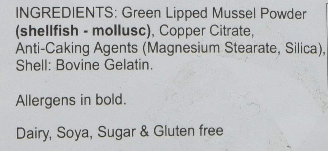 Lindens Mejillones de labios verdes 500 mg cápsulas | 360 Paquete | Fórmula para el cuidado de las articulaciones en cómodas cápsulas, de liberación rápida; ...