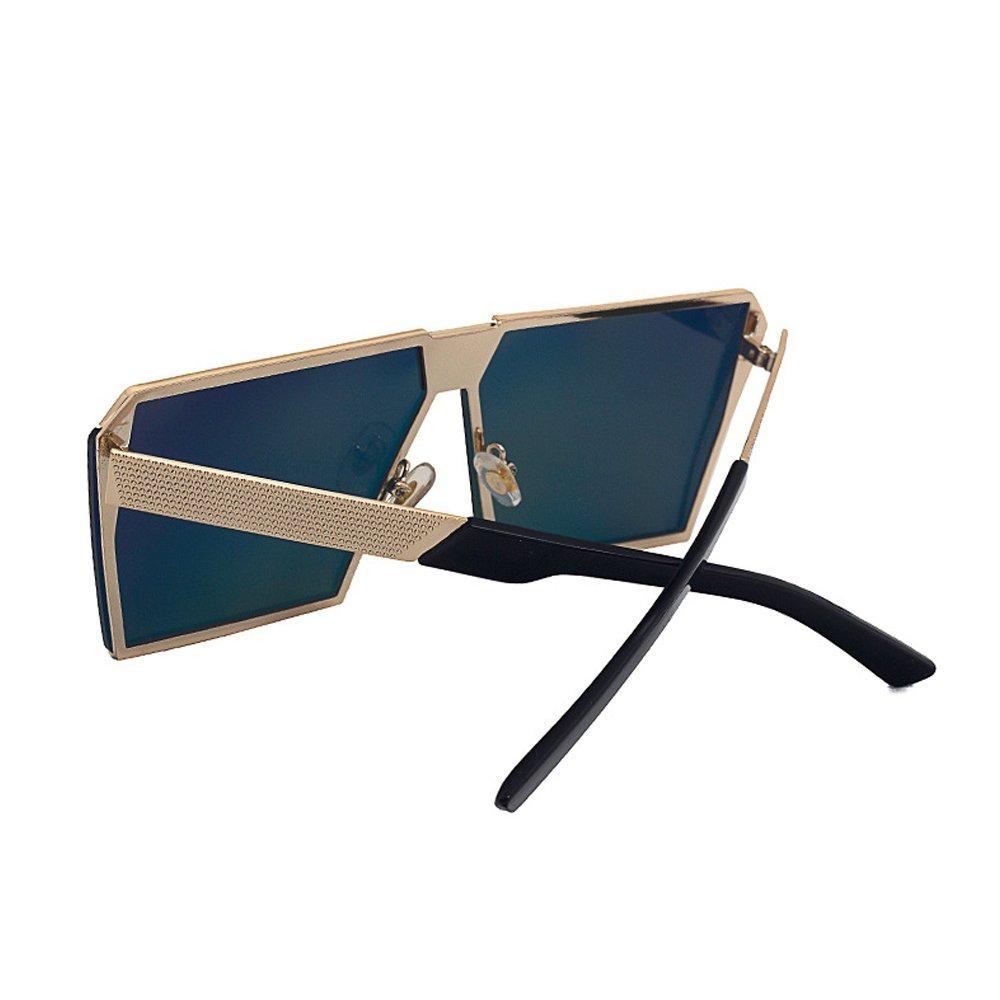 af0805f7be44cb VeBrellen Lunettes de soleil surdimensionnées pour hommes Lunettes de  lunette carrée cadre en métal UV400 Non-Polarisée  Amazon.fr  Vêtements et  accessoires