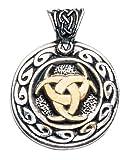 Nordic Lights Moon Valknutr Pendant for Realising One's Dreams Amulet Talisman Charm