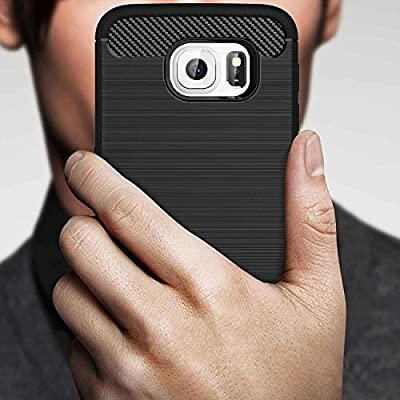 Galaxy S6 Case, AnoKe Ultra [Slim Thin] Scratch-Resistance Carbon Fiber Shock Absorption Soft TPU Drawing Anti-fingerprint Grip Protective Phone Case Cover For Samsung Galaxy S6 HWLS from AnoKe
