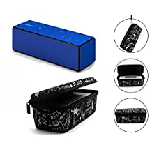 Hard EVA Travel Carry Pouch Sleeve Portable Protective Box Cover Bag Cover Case for Sony SRSX3 / SRSX33 Wireless Bluetooth Speaker System Storage Box with Carabiner Clip (Graffiti)