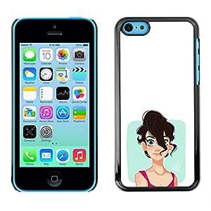 EJOY---Cubierta de la caja de protección la piel dura para el ** iPhone 5C ** --Chica emo