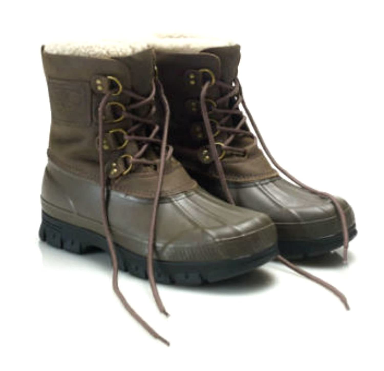 Polo Ralph Lauren Shearling-Cuff Landen Boots Size 8