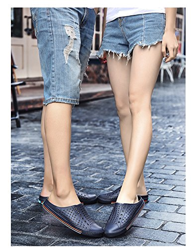 Respeedime Hollow Sandals Hole Women's Breathable Lovers Slippers Beach Shoes Blue AjrX5BU