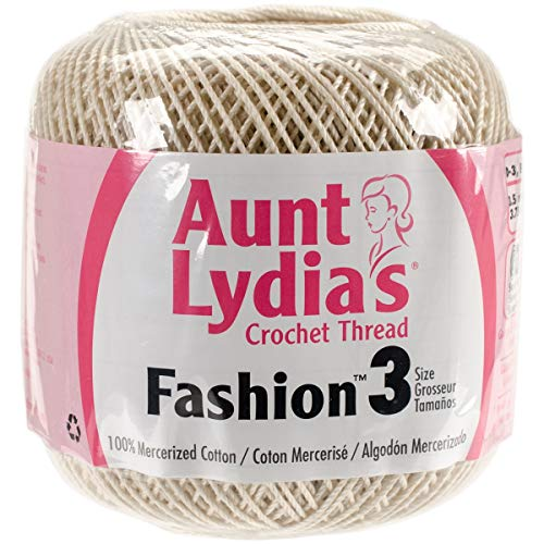 Aunt Lydia's 96903 Pk Fashion Crochet Thread Size 3-Natural, Multipack of 12, Pack by Aunt Lydia's (Image #1)