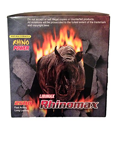 Libimax Rhinomax Male Enhancement Sexual Pill! Rhino Power 2500mg Pill!- 24 Pills! by Rhinomax