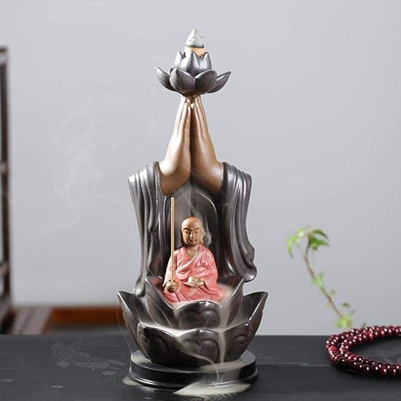 香炉バックセラミック香香炉ベルガモット創作飾りは観音如来トリニティ工芸気化器をバックアップ,サム・ウエスト - 地蔵