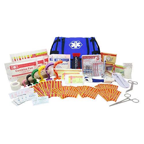 Ever Ready First Aid EMS First Responder Fully Stocked Trauma First Aid Kit (Blue)