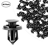 GOOACC Nylon Bumper 10mm Push Fender Flare Fastener Rivet Clips Furniture Assembly Expansion Screws Kit - 40 Pcs Pack