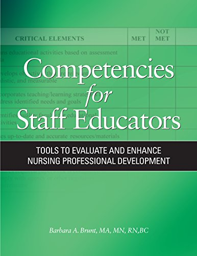 Competencies for Staff Educators: Tools to Evaluate and Enhance Nursing Professional Development