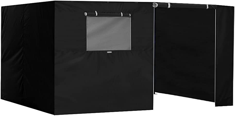 Amazon Com Eurmax Zippered Walls For 10 X 15 Canopy Tent Enclosure Sidewall Kit With Roller Up Mesh Window And Door 4 Walls Only Black Garden Outdoor