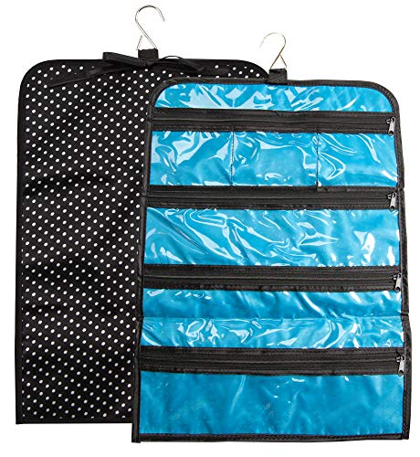 - The Paragon Travel Hanging Jewelry Roll Up Bag, Storage Case, Organizer Holder