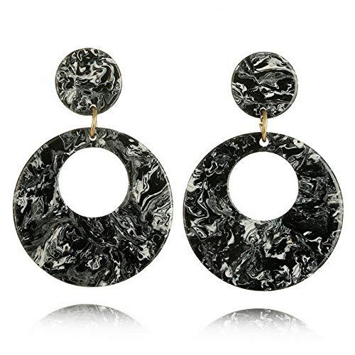 Tomikko Round Acrylic Dangle Drop Earrings Geometric Ear Studs Earrings Womens Jewelry | Model ERRNGS - 8647 |