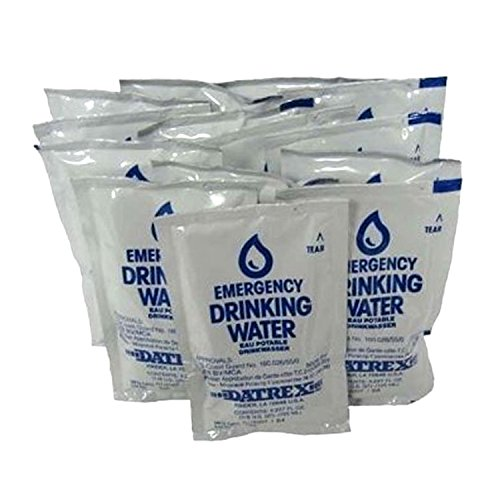 Datrex Emergency Water Packet 4.227 oz - 3 Day/72 Hour Supply (18 Packs) - Use Shelf Kit