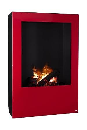 Magma infrarrojos-estufa de leña, chimenea eléctrica de calor Optimyst con verdadera, controlado por radio: Amazon.es: Hogar