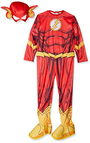 Rubies DC Comics Deluxe Muscle-Chest The Flash Costume, Child Small]()