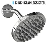 Coeur Designs Premium 6 Inch, 50 Jet Stainless Steel Rainfall Shower Head Delivers A Powerful, Stress Relieving, Massage-Like Experience. Quality Design and Aesthetically Pleasing. Lifetime Warranty.