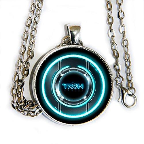 TRON logo - glass domed photo pendant necklace - HM]()