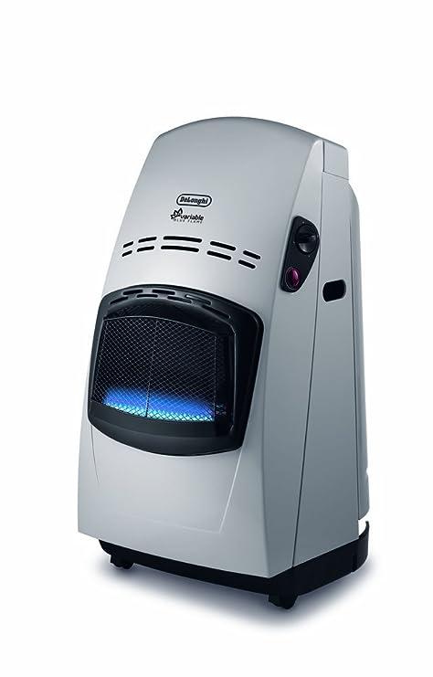 Delonghi VBF2 - Estufa, 4200 w, sistema variable de control de la llama, doble sistema seguridad, mandos ergonómicos, ruedas desplazamiento, negro y ...