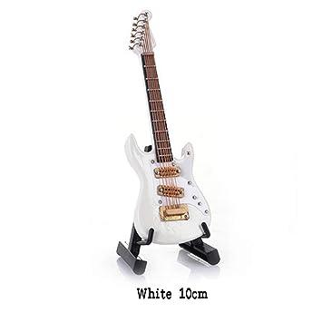 Mini Guitarra Eléctrica de Madera Decoración Árbol de Navidad Adornos de Bolas Mini Instrumentos Musicales Modelo 10cm / 14cm: Amazon.es: Instrumentos ...