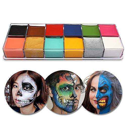 AOLVO Face Body Paint, 12 Colors Face Body