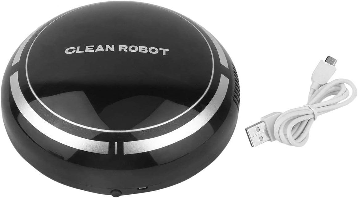 Mini Aspiradora Inteligente Eléctrica Inalámbrica Automática Multidireccional Redonda Inteligente Aspirador Robot para Hogar-Negro(BCVBFGCXVB)