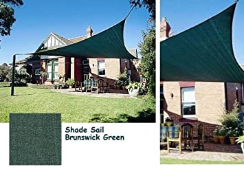 square 18x18 ft sun sail shade cover green