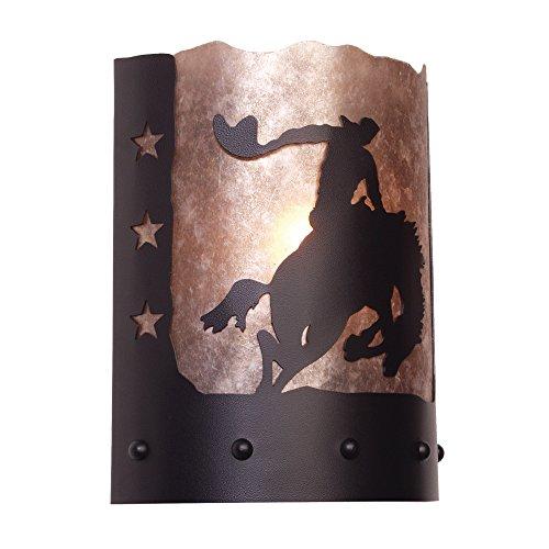 Lamp Handcrafted Ridge (Steel Partners Lighting Timber Ridge Sconce, 8 Second)