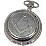Woodford Chrome Plated Masonic Full Hunter Quartz Pocket Watch