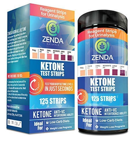 Kit Food Service Burn (Ketone Strips - Perfect Ketogenic Supplement to Measure Ketones in Urine & Monitor Ketosis for Keto Diet, 125 Urinalysis Test Strips)