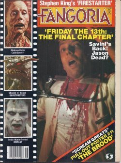 FANGORIA #36, 1984 (Firestarter, Friday the 13th: The Final Chapter, The Brood, Ghostbusters, Mutant)