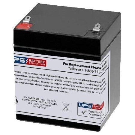 12V 5Ah F1 AGM Battery replaces ELB 1250A, NB12-5, RB1242, RB1250, RB1252 F1, 2UKJ3, 2UKJ1, BAT124, PRB124, PRB124T, CA1240, CA1245, CA 1245, CP12-4.0, CP12-4.5, CP12-5.4 F1, PE12V4, PE12V4.5