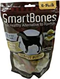 Cheap SmartBones Peanut Butter Dog Chew, Small, 6-count
