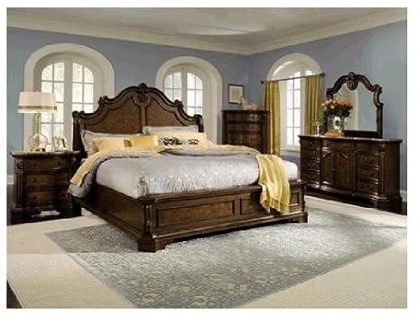 Amazon.com: Monticello Pecan 7-PC King Bedroom Package: Kitchen ...