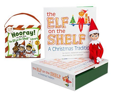 Elf on the Shelf: Boy Scout Elf(Blue Eyed) with The Scout Elves Present: Hooray! It's Your First… The Elf on the Shelf Library by Elf on the Shelf (Image #1)