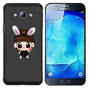 YiPhone /// Prima de resorte delgada de la cubierta del caso de Shell Armor - Naturaleza Hermosa Forrest Verde 196 - Samsung Galaxy A8 A8000