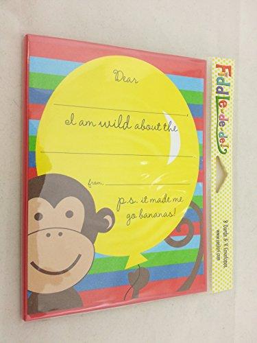 """SanLori Designs """"Monkey See Monkey do"""" Thank You Cards - 8 ct"""