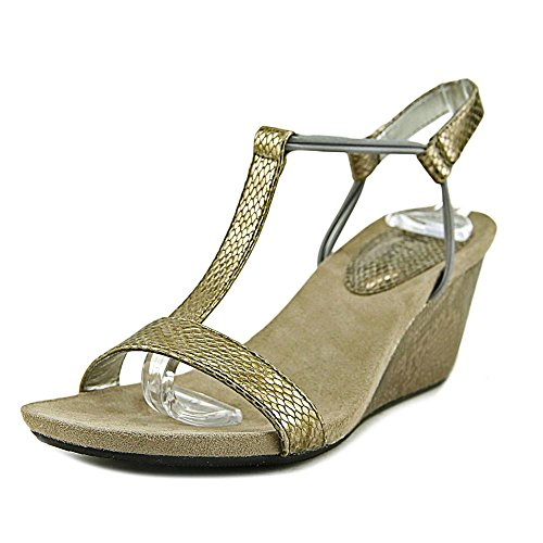 Style & Co. Womens Mulan Open Toe Casual Platform Sandals, New Pewter, Size 7.5 from Style & Co.