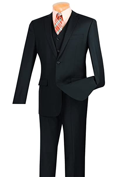 Amazon.com: Vinci hombre 2 botón de una hilera Slim Fit ...