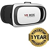 MOTEXO 2ND Generation Enhanced Virtual Reality Cardboard 3D Video Glasses Headset for all Android and iPhones(Assorted)