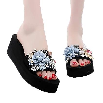 f1aae5683daf8e Amazon.com  Jiayit Women s Slip-on Slipper for Women Summer Bohemian ...