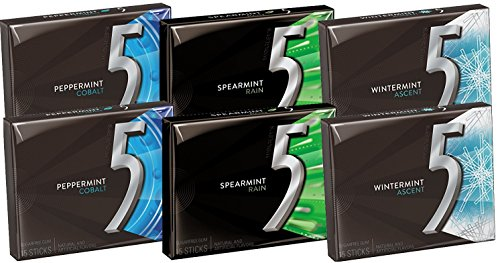 Wrigley' 5 Sugar Free Chewing Gum 15 sticks (Pack of 6) - Import It All