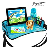 The Ultimate Travel Play Tray   Durable, Bendable, Comfortable- Made with high quality Polyester Fabric. Tablet/Smart Phone Holder - Clear touch screen plastic material suitable for most tablets or smart phones Storage – Elastic mesh pockets on each ...