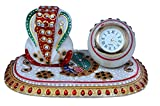 Craft Trade Antique Designer Analog Watch And Lord Ganesh Idol With Pawati 8.5x10 Multi Purpose Designer Analog Watch