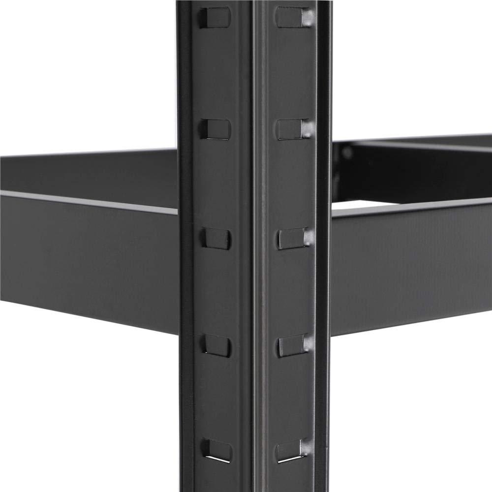 Yaheetech 2 xHeavy Duty 5 Tier Garage Shelving Units Metal Storage Shelves Shed Utility Rack,180cm x 90cm x 40cm,175KG Per Shelf