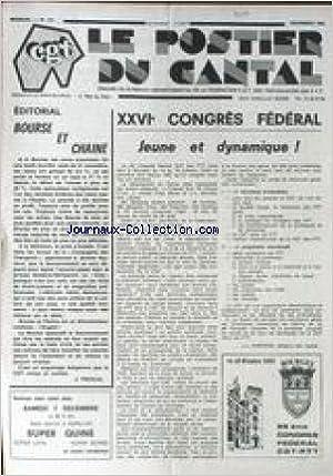 Ebooks téléchargés ordinateur POSTIER DU CANTAL (LE) [No 131] du 01/12/1985 - XXVIEME CONGRES FEDERAL PAR J.L. BARRIERE - BOURSE ET CHIANE PAR J. FRESCAL. ePub