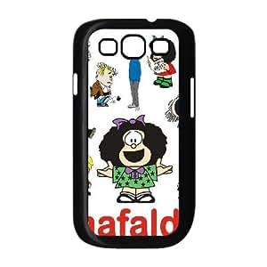 Samsung Galaxy S3 Cases Mafalda Cartoon Characters, Tyquin, [Black]